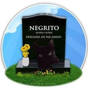 Negrito en cementerio mascotas virtual